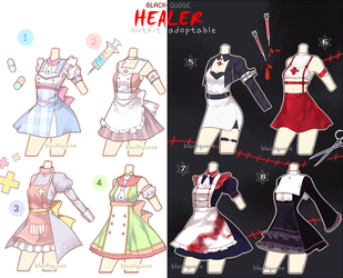 [CLOSED] Healer Outfit Adoptable #14 by Black-Quose