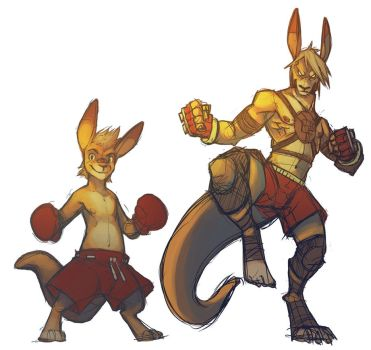 Digital Practice Kangaroo Fighter by ben-ben