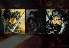 Berserk Guts and Casca by 47hell