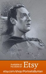 Lt. Commander Data - Star Trek:TNG Portrait by PortraitsByAlan