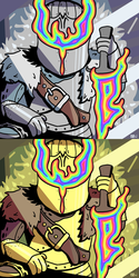 Silver and Gold Knights by BrandonPewPew