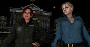 Jill and Claire on a mission by Mister-Valentine
