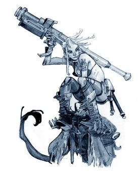 TANK GIRL_commission by EricCanete