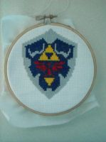 Hyrule Shield X Stitch by geek-stitch