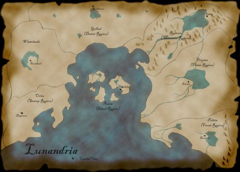 Map of Lunandria by Tazkor