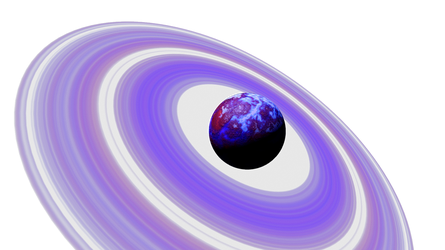 Purple Blue Planet Purple rings Space SciFi Stock by LapisDemon
