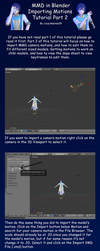 MMD in Blender 2.79 Importing Motions Tutorial 2 by crazy4anime09