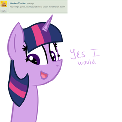 Ask Twilight Sparkle #2 by TechnoPonyWardrobeDA