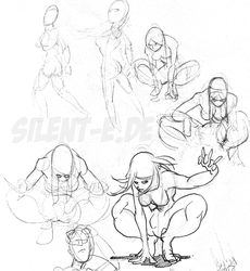 Psylocke Sketches by Abt-Nihil
