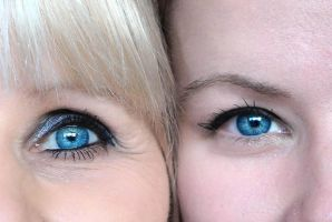Blue Swedish Eyes. by KarinClaessonArt