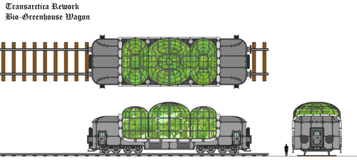 Transarctica Bio-Greenhouse Wagon technical view by Tzoli
