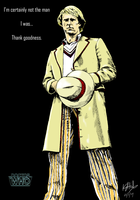 The Fifth Doctor - colour by The-13th-Doctor