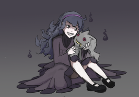 Hex Maniac and  Banette by Burrii