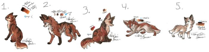 Wolf Pups by Joava