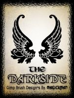 the Darkside wing's for Gimp by blueeyedmagickman