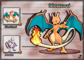 PokeFusion: Mewzard by JT-PokeKa