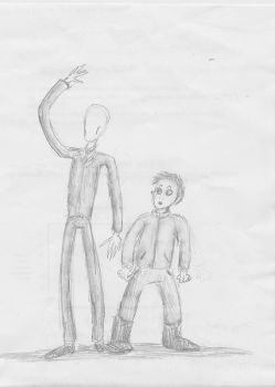 Slenderman and Masky by Quizalo7