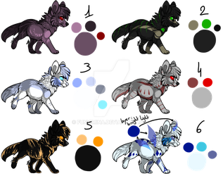 Set 3 : Canines Adopts [CLOSED] by Funkimina