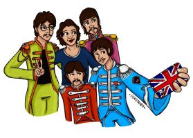 The Beatles Fan Art  by Inkstandy