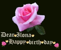 Dear Ilona happy birth day! by vafiehya