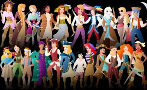 All the disney Pirates by Willemijn1991