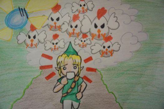 Link VS Chickens by hae-chan
