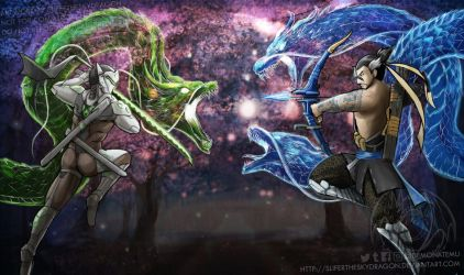 Genji Vs Hanzo by slifertheskydragon