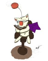 Reading is Cool, Kupo! The Colored Drawing by Le-Smittee