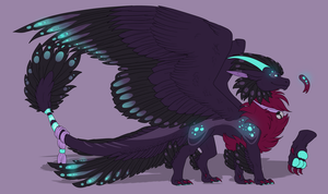 Amethyste dragoness by Anais-thunder-pen