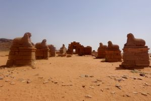 Alley of Sphinxes by Syltorian