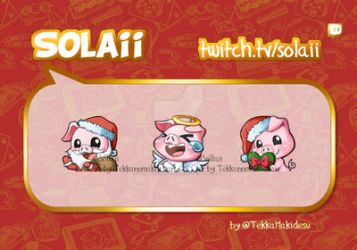 Commission: Christmas Emotes for Solaii by TekkanoMaki-chan