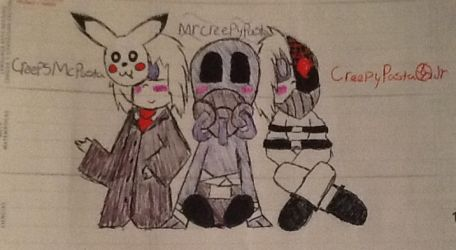 The cute creepypasta narrators by Cinosxshadow