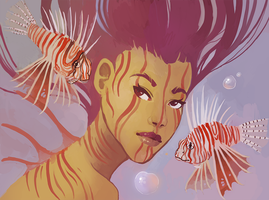 lionfish mermaid by Spifmo