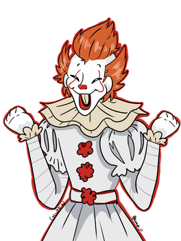 pennywise the dancing CLAWN by GlutenFreeDrawings14