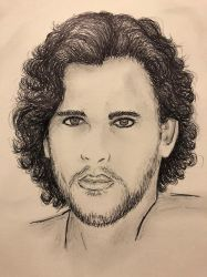 Jon Snow (Kit Harrington) Game of Thrones  by conwaysuccess