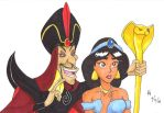 Jafar and Jasmine commission by mayorlight