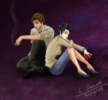 Snow and Bigby by AidoHowlknight