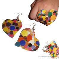 Colorful hearts by jewelryandstuff