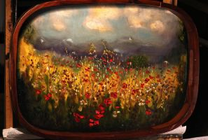 Flowers In The Valley - mounted on tray by DeLumine