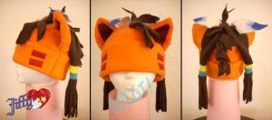 Red XIII fleece hat by OnJedone
