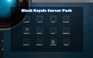 Black Royale Cursor Pack by killerbeat