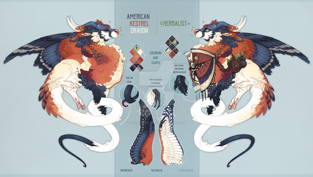 American kestrel dragon auction(CLOSED) by azira-star-wind