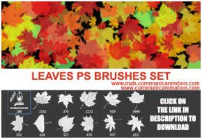 Autumn Leaves Photoshop Brushes - Foglie autunnali by CommunicAnimation