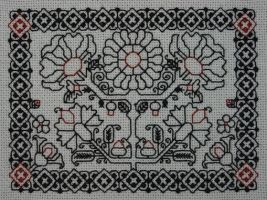Tudor Rose Blackwork by immortalphoenix