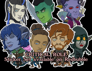 Critical Role Campaign 2 Stickers by devillo