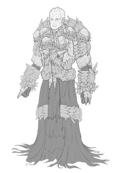 Monster armor dude by Di-Dorval
