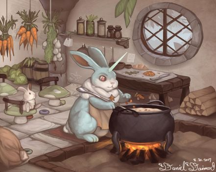 BunnyCorn with carrot stew by Daniel-Daimon