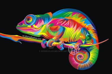 Chameleon by weercolor