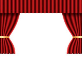 Open Red Velvet Stage Curtain Free Vector by superawesomevectors