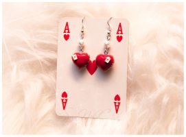 Queen Of Hearts Earrings by SaraNekoChan